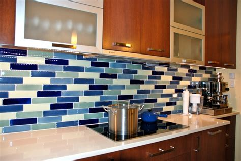 blue tile backsplash kitchen carerra s kitchen bumble 39 s design diary