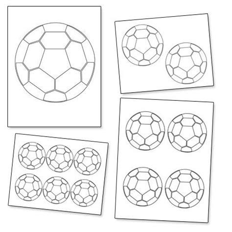 printable soccer ball template birthday party ideas