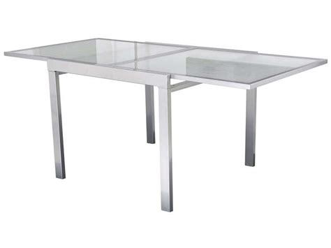 table extensible extend coloris argent vente de table de cuisine conforama