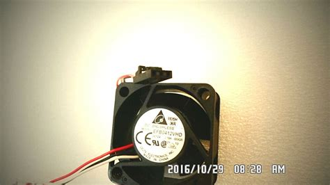 dc brushless efb0412vhd fan black connector 3 leads black white 14 quot wire ebay