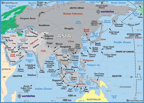 map  asia    largest   populous continent