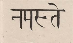 Namaste in sanskrit   Tattoos   Pinterest