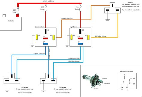 automotive headlight wiring diagram simkin s musings