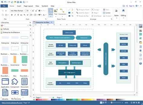 enterprise architecture diagram software  mac