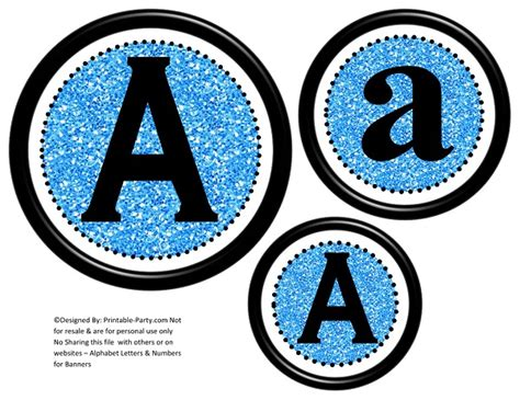 circle printable banner letters     create  personalized party banner