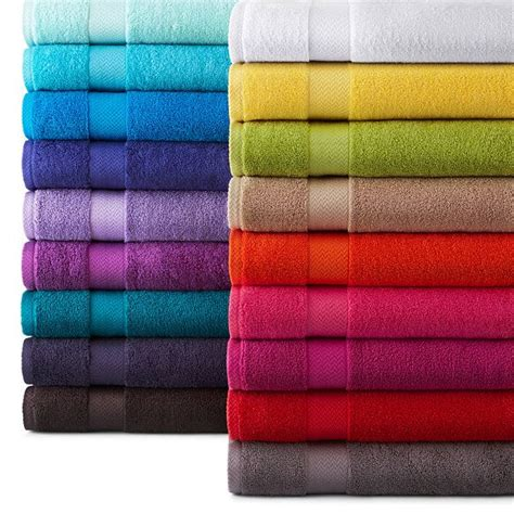 Bathroom Towel Colors jcpenney home solid bath towels jcpenney front