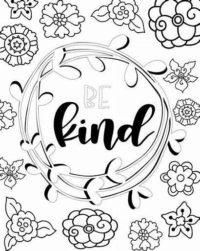 Coloring Pages Printable Sheets Kind Pretty Attitudes