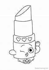 Coloring Lippy Lips Shopkins Template sketch template