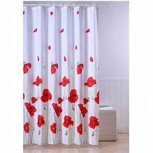 Rideau Salle De Bain : frandis rideau de douche textile coquelicot achat ~ Dailycaller-alerts.com Idées de Décoration