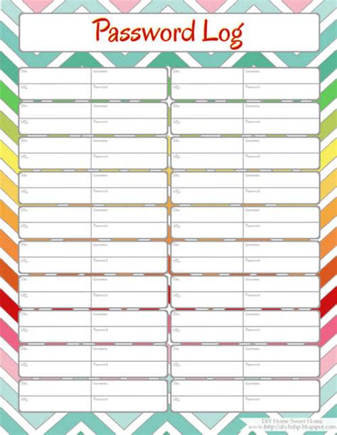 Diy To Do List Template by Diy Home Sweet Home Home Management Binder Password Log