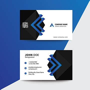 blue wavy visit card design business card corporate png