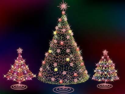 Christmas Tree Desktop Trees Wallpapers 3d Lights