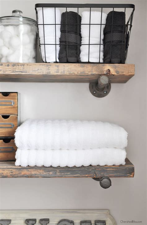 bathroom shelves how to build diy industrial pipe shelves cherished bliss Industrial