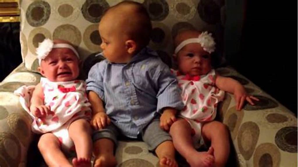 #Adorably #Confused #Baby #Meets #Twins