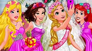 Disney princess bridal shower dress up games disney for Disney princess wedding dress up games