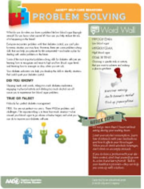 Diabetes Tip Sheets And Handouts