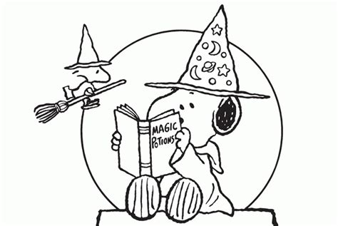 Halloween Charlie Brown Coloring Pages Coloring Home