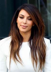 Kim Kardashian Long Hairstyles: Ombre Hairstyles for ...