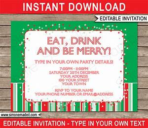 christmas party invitations template holiday party With christmas party tickets templates free