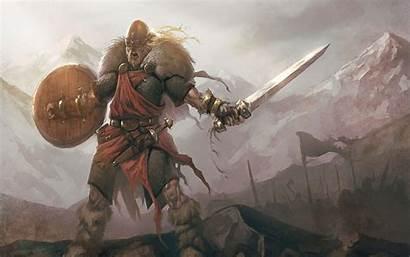 Viking Screaming Warrior Sword Wallpapers Desktop Armor