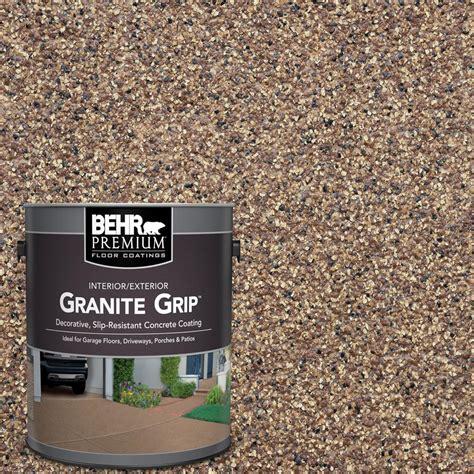 behr premium  gal tan granite grip decorative interior