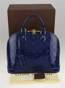 louis vuitton grand bleu monogram vernis alma pm bag