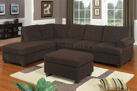 Sectional Sofas With Ottoman by F7135 Chocolate Corduroy Reversible Tufted Sectional By