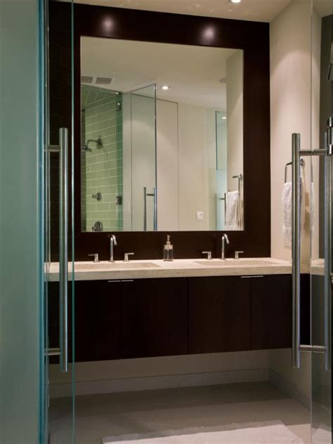contemporary marble topped floating bathroom vanity hgtv