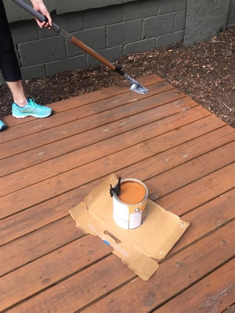 Restain Deck Without Stripping by How To Re Stain A Deck In Less Than An Hour Diane And