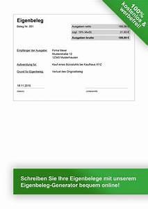 Tickets Auf Rechnung : eigenbeleg vorlage zum kostenlosen download ~ Themetempest.com Abrechnung