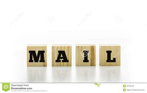 Letter Tiles Spelling The Word Mail Stock Photo  Image Of