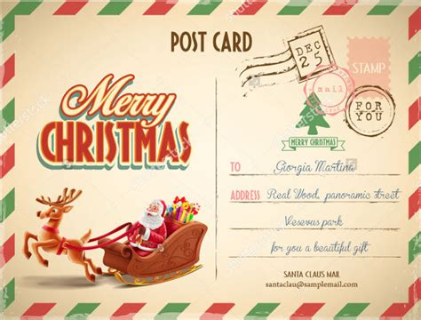 printable postcard templates  psd ai vector