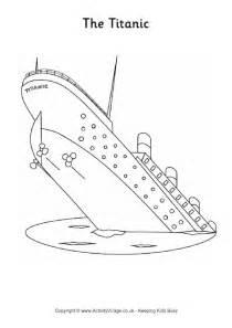 Titanic Colouring Page