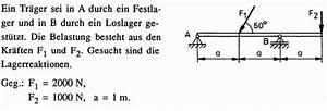 Auflagerkräfte Berechnen : technische mechanik 1 auflagerkr fte bestimmen mathelounge ~ Themetempest.com Abrechnung