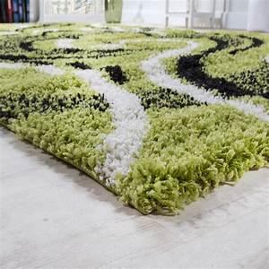 Teppich Läufer Grün : bettumrandung l ufer shaggy hochflor teppich gemustert gr n l uferset 3 tlg teppiche bettumrandungen ~ Whattoseeinmadrid.com Haus und Dekorationen