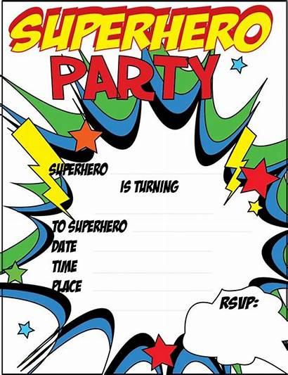 Superhero Invitations Party Invitation Blank Templates Birthday