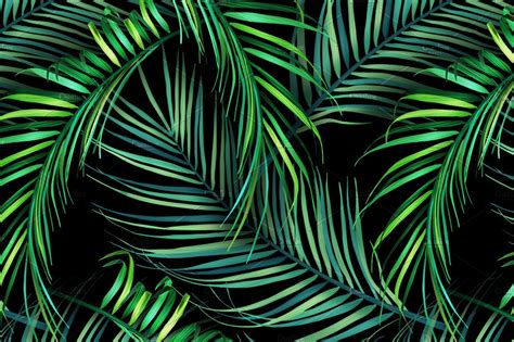 jungle palm leaves tropical pattern graphic patterns