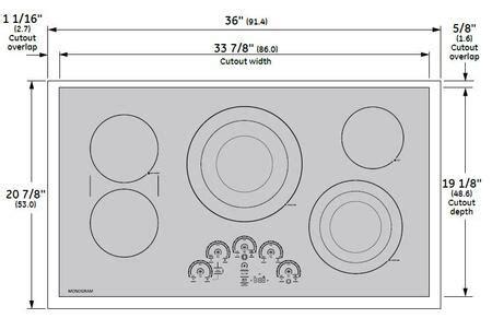 ge monogram zeursjss   black electric cooktop appliances connection
