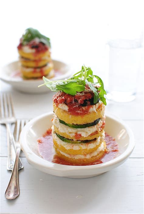 cuisine polenta ratatouille polenta stacks