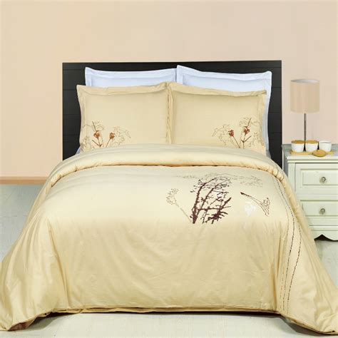 beige duvet cover luxury beige brown coffee embroidered cotton