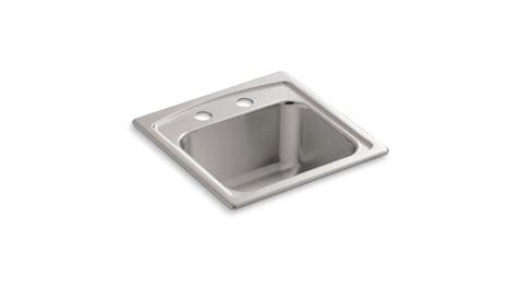 Kohler Sink Strainer For Garbage Disposal by Kohler K 3349 2 Na Stainless Steel Single Basin Bar Sink