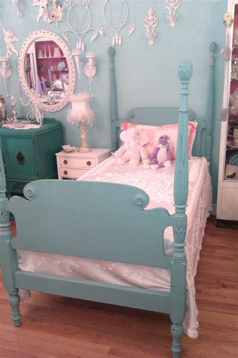 shabby chic bedding aqua custom order twin bed frame shabby antique chic aqua turquoise