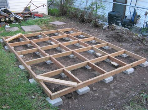 10x10 Floating Deck Plans by New Shed Base To Hold Scrapyard Engines