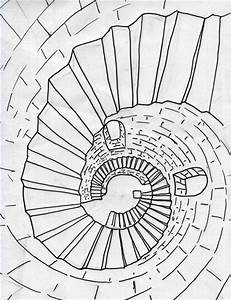 How to Draw Spiral Stairs | Perspective, How to draw and ...