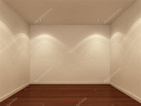 vide chambre mur blanc et plancher de bois dans la nuit la chambre