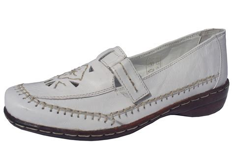 ladies soft white leather flat shoe ladies flat shoes