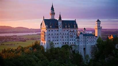 Castle Neuschwanstein Germany Bavaria Architecture Background Laptop