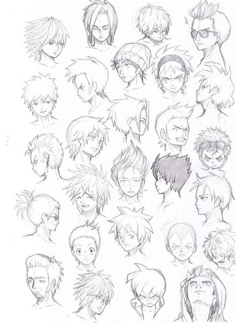 anime guy hairstyles google search character hair