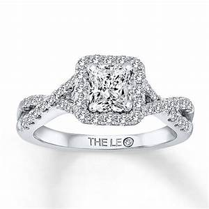 kay leo engagement ring 1 1 4 ct tw diamonds 14k white gold With leo wedding ring