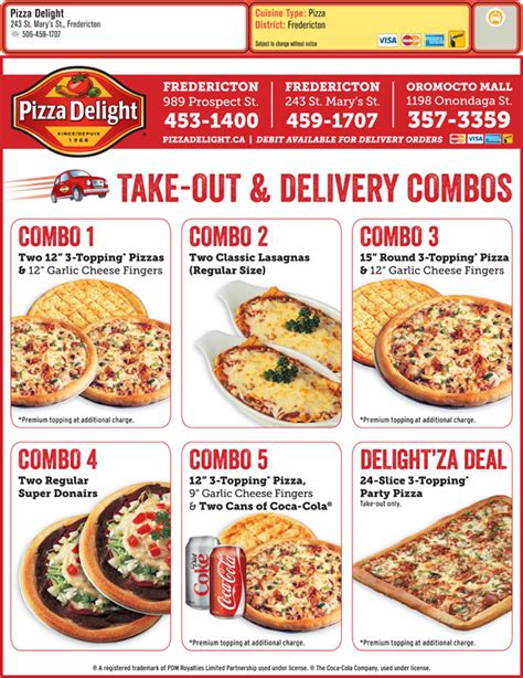 cuisine near me pizza delight 251 marys st fredericton nb